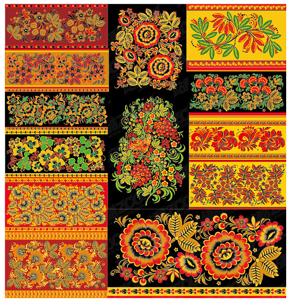Material de vectores de patrón clásico serie -3 - patrón de encaje