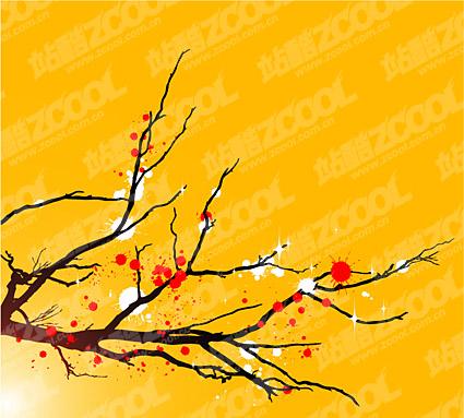 梅のような一般的なインク ベクトル材料