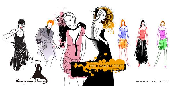 ベクトル ファッション女性