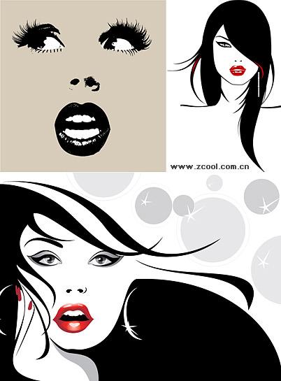 ilustraciones vectoriales de material femenino