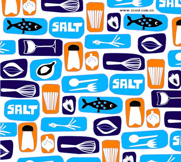 食品および飲料の素敵な背景のベクター素材