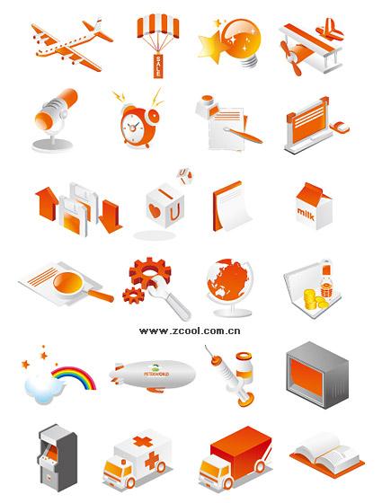 Corea estilo icono material de vectores