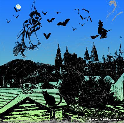 Noche de Halloween de material de vectores