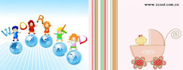Enfants en bas âge vecteur matériel