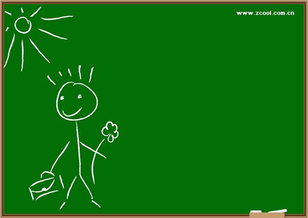 子供に黒板の落書きのベクター素材