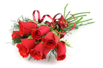 Un ramo de material de imagen de rosas rojas
