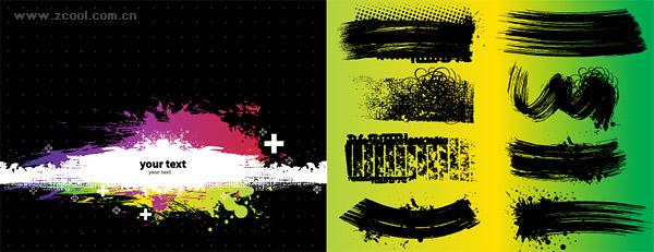 Várias marcas de tinta material vector