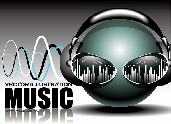 Cool music vector material