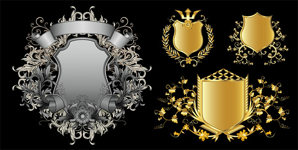 Continental shields pattern vector material-2