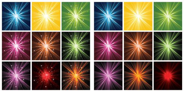 Multicolor luz vectorial material radiactivo