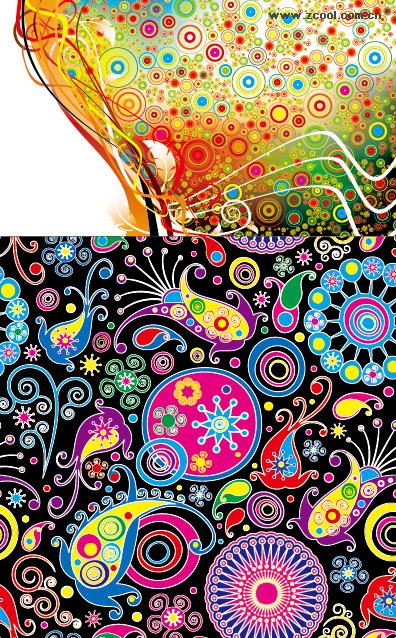 material de vectores de tendencia de diseño lindo