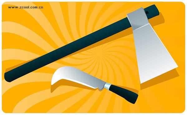 軸とナイフ