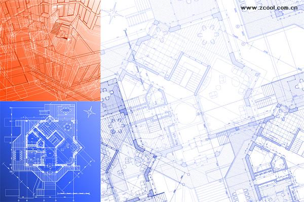 Material de Vector de dibujos arquitectónicos