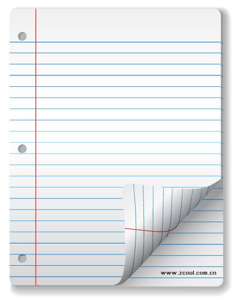 ベクトル空白ノートブック紙材料
