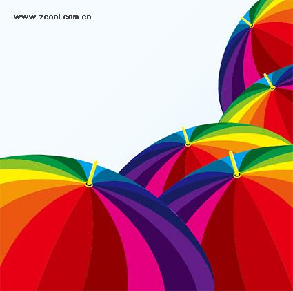 สีเวกเตอร์ของวัสดุร่ม