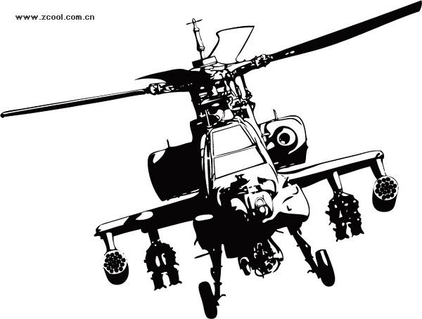 Helicópteros Apache vector de material