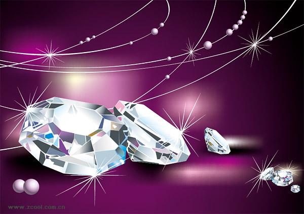 ベクトル ダイヤモンド クールな素材