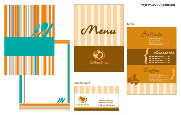 Traiteur menu carte modèle vectoriel matériel