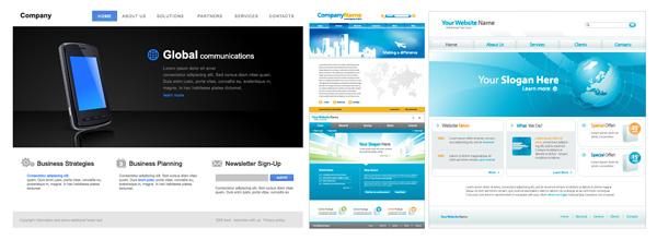 Web-Seite Design-Vorlage-Vektor-material