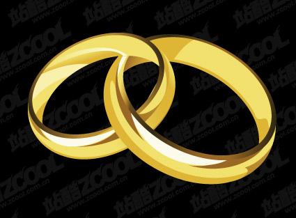 Un par de anillos de oro