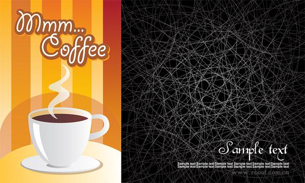 Material de vetor linha e desordem de fundo café