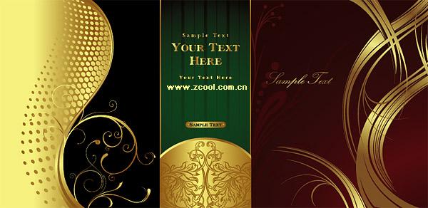 material de vetor do belo padrão ouro padrão
