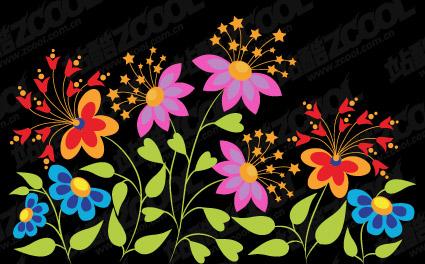 美しい蝶花形ベクトル材料