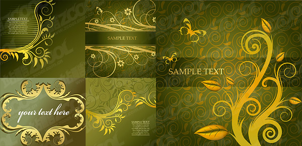 豪華なファッション パターン ベクトル材料