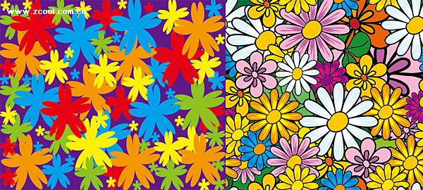 bunga-bunga indah vektor materi latar