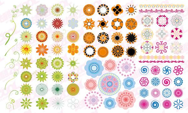 円形のパターン ベクトル材料ファッション以上