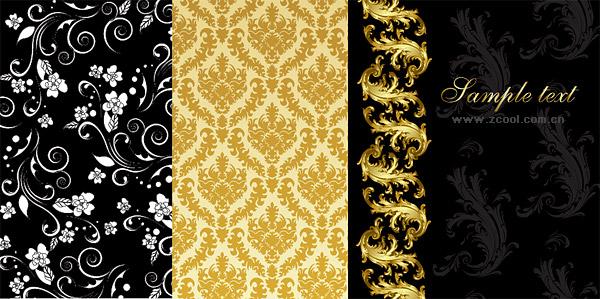 ファッション パターン ベクトル材料の選択