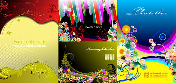 as flores de padrão de tendência material de ilustração de vetor