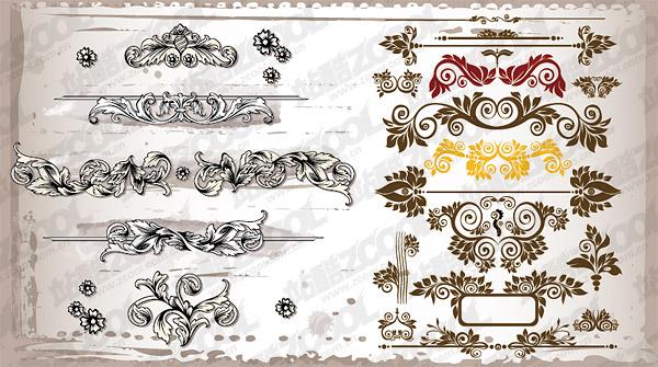さまざまな実用的な豪華なパターン ベクトル材料