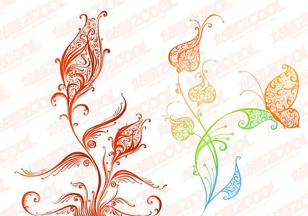 material de vector hermoso patrón