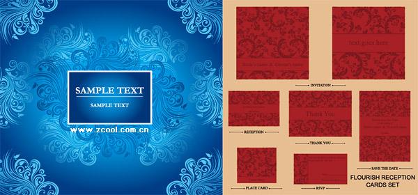 material de vetor requintado padrão floral