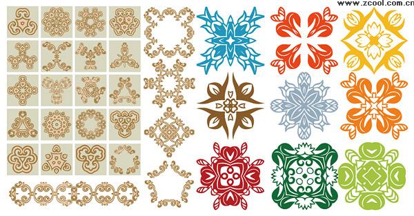 Vielzahl von praktischen klassischen Muster Vektor
