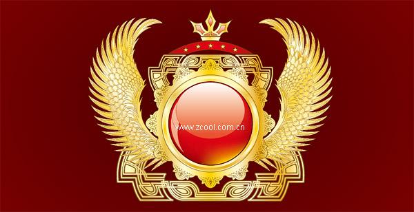 Material de gráficos de vectores de textura de alas de oro