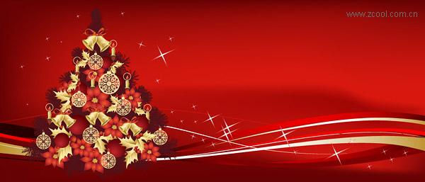 クリスマス ツリーのテーマのベクター素材