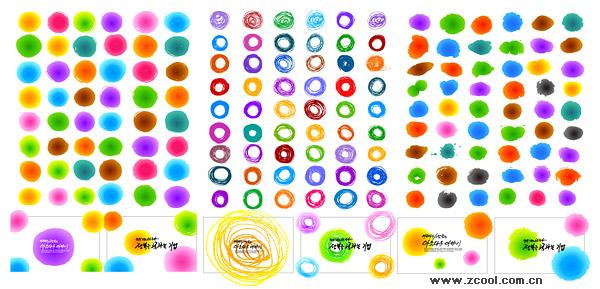 Moda tinta elemento vector material-4