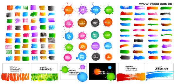 Moda tinta elemento vector material-3