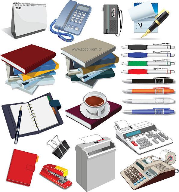 オフィス用品のベクター素材