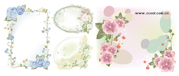 material del marco de fantasía flor