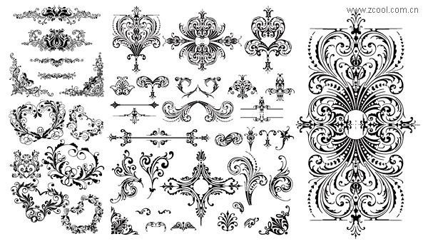 Vielzahl von praktischen europäischen Stil Spitze Muster Vektor-material