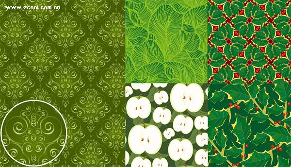 ベクトルの緑の背景素材
