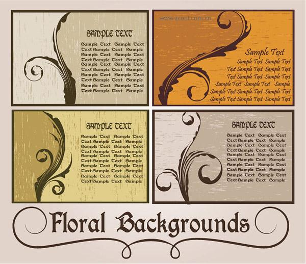 Material de vectores de tarjeta estilo patrón de nostalgia