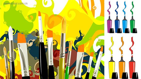 Matériau stylo et mark brosse de vecteur