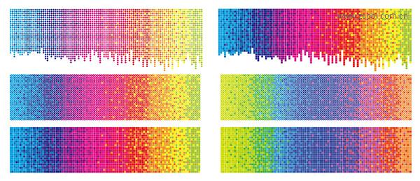 Material de punto de vectores arco iris fondo color