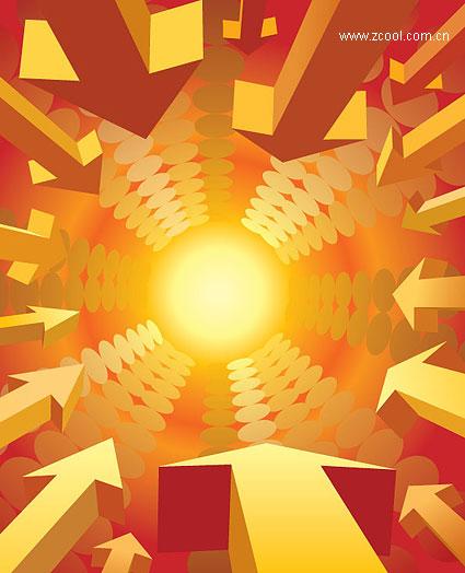 Matériel de référence pour le flèche vectoriel tridimensionnel