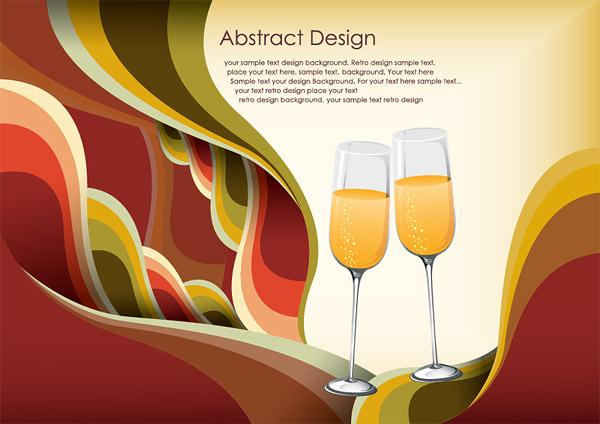 Champagne glasses Vector Hintergrund Materialtrends