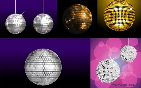 Variété de boule disco vecteur matérielles